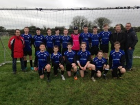 Under 15C Team with their sponsor Paul Kehoe of Quay Logistics.